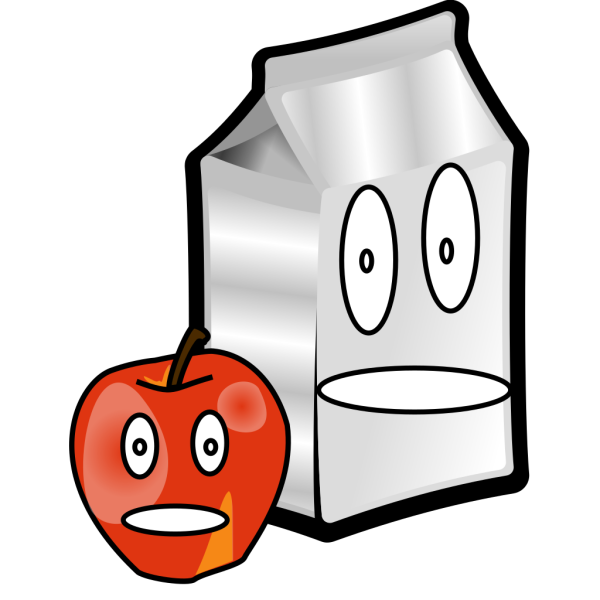 Apple And Milk PNG Clip art