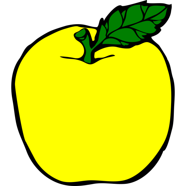 Yellow Apple PNG clipart
