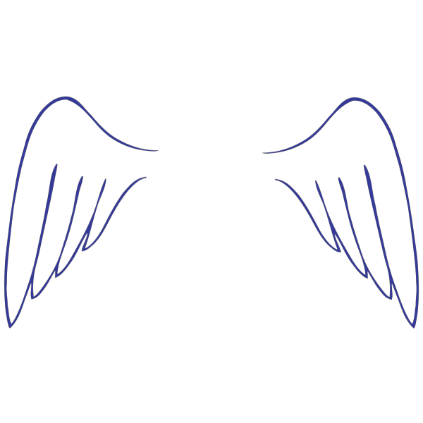 Simple Angel Wings PNG Clip art