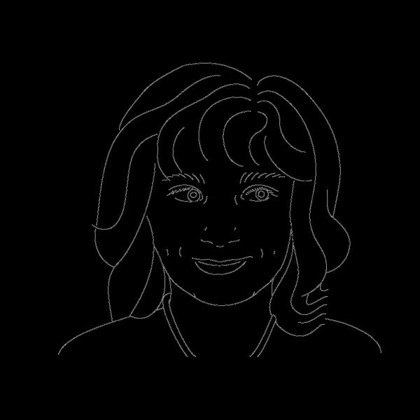 Girl Outline PNG Clip art