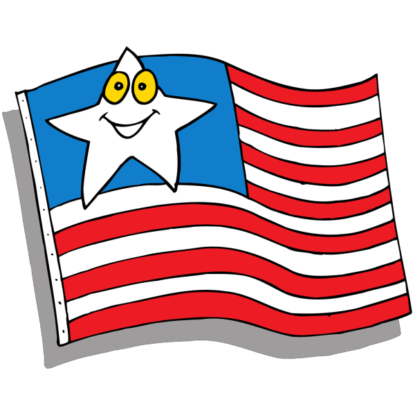 Cartoon Flag PNG clipart