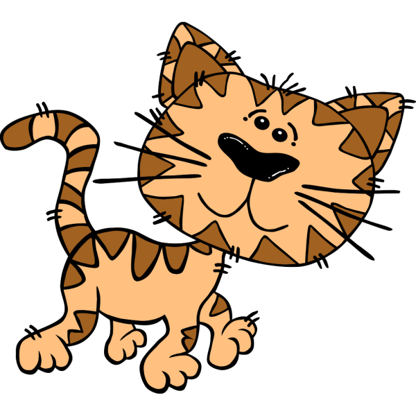 Cartoon Cat Walking PNG Clip art