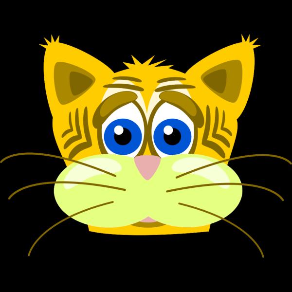 Sad Tiger Cat PNG Clip art