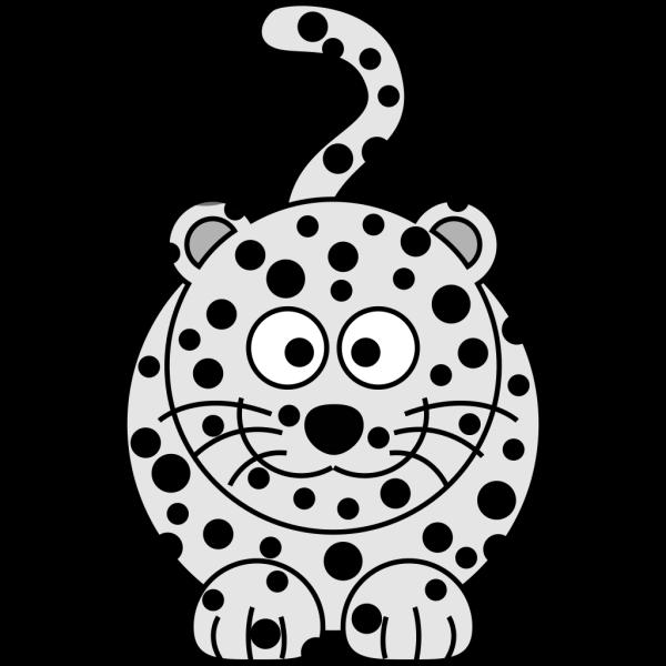 Cartoon Snow Leopard  PNG Clip art
