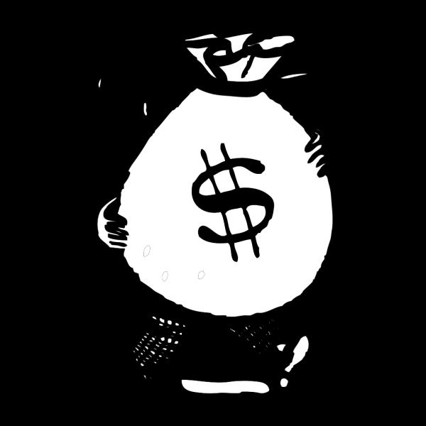Man Carrying A Big Bag Of Money PNG Clip art