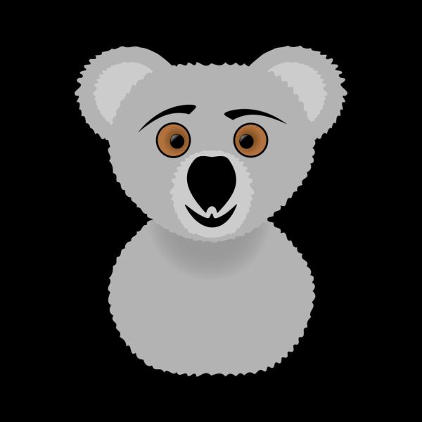 Cartoon Koala Head PNG Clip art