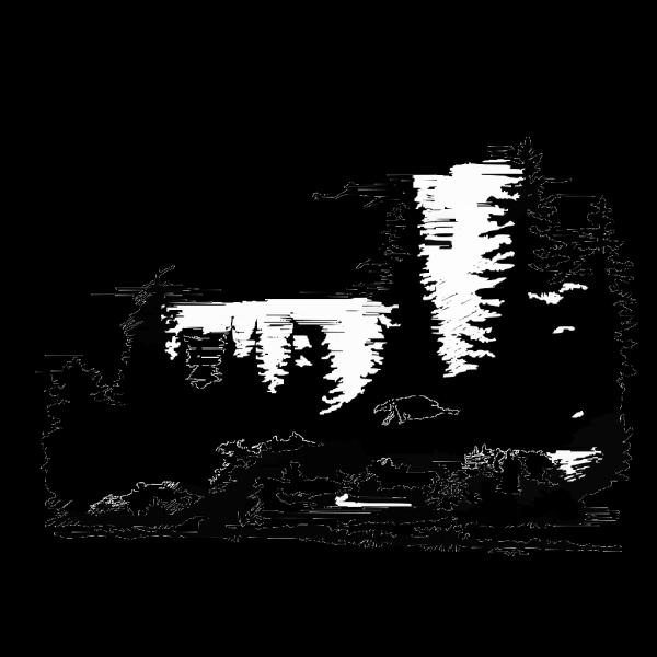Mountain Range Sunset PNG Clip art
