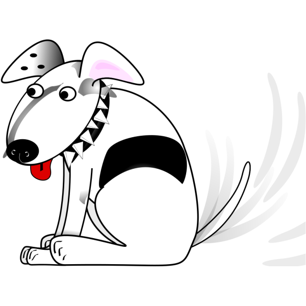 Cartoon Dog Wagging Tail PNG Clip art