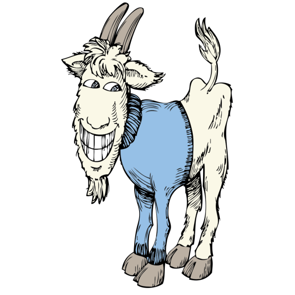 Goat In A Sweater PNG Clip art