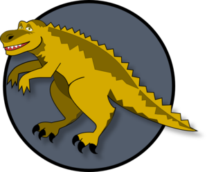 Smiling Cartoon Dinosaur PNG Clip art