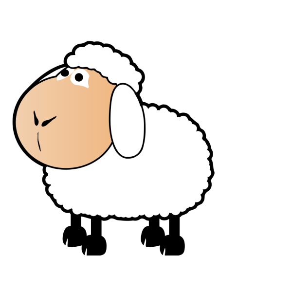 Sheep With A Colored Face PNG Clip art