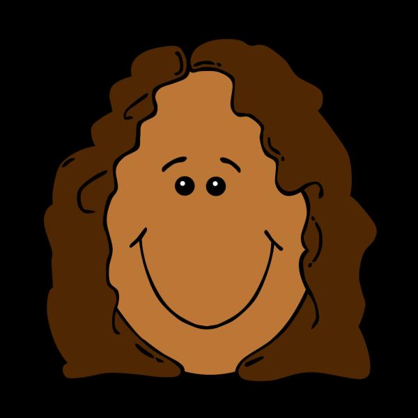 Cartoon Girl Face PNG Clip art