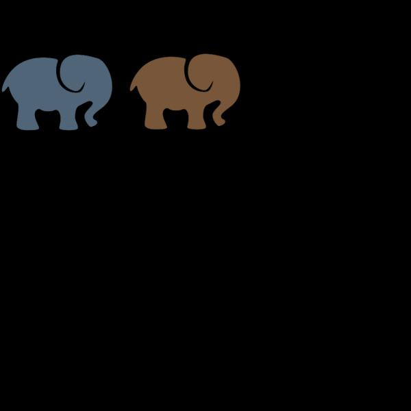 Parent And Child Elephants PNG Clip art