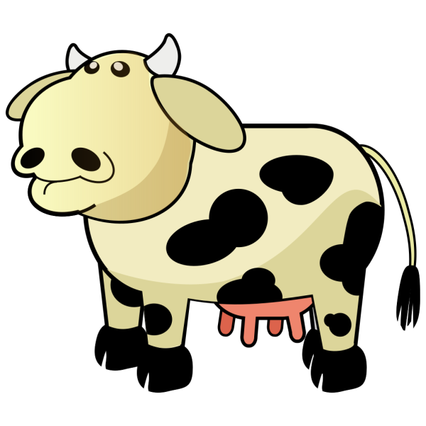 Cream Colored Cow With Black Spots PNG Clip art