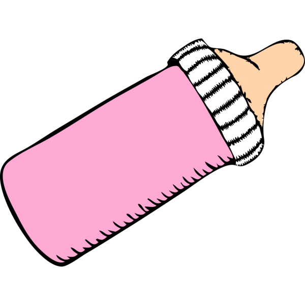 Pink Baby Bottle PNG Clip art