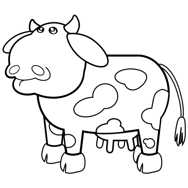 Spotted Cow Outline PNG Clip art