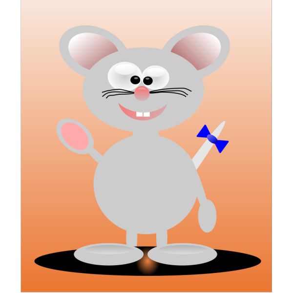 Waving Mouse PNG clipart