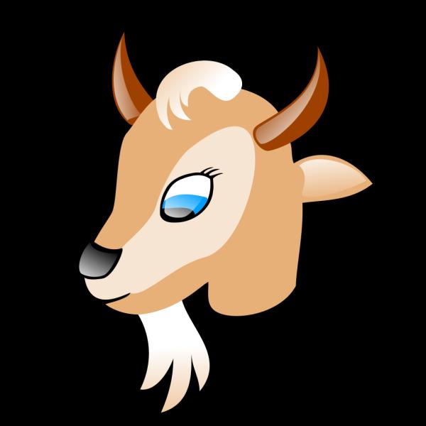 Cartoon Goat Head PNG Clip art