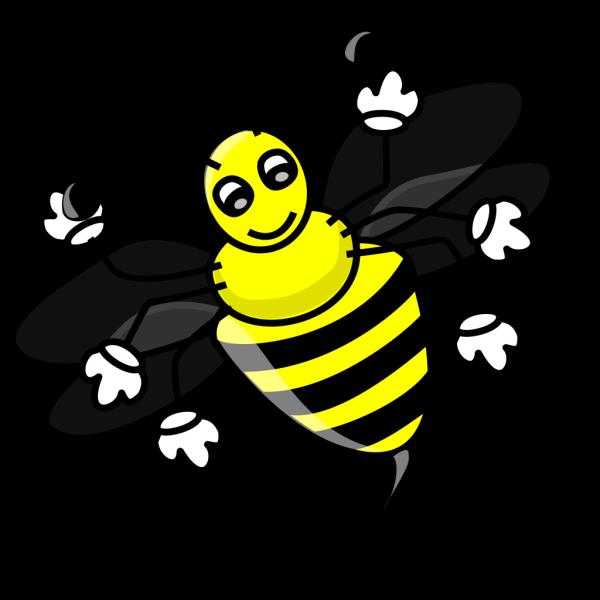 Funny Bee PNG Clip art