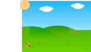 Cartoon Landscape Sans Tree PNG Clip art