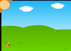 Cartoon Landscape Sans Tree And Gradient PNG Clip art