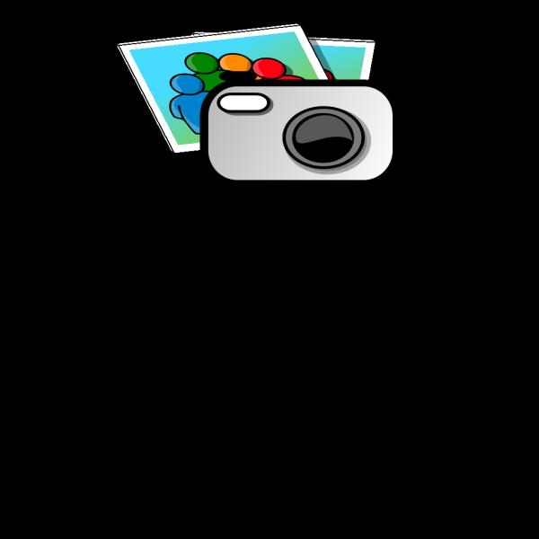 Red Digital Camera PNG Clip art