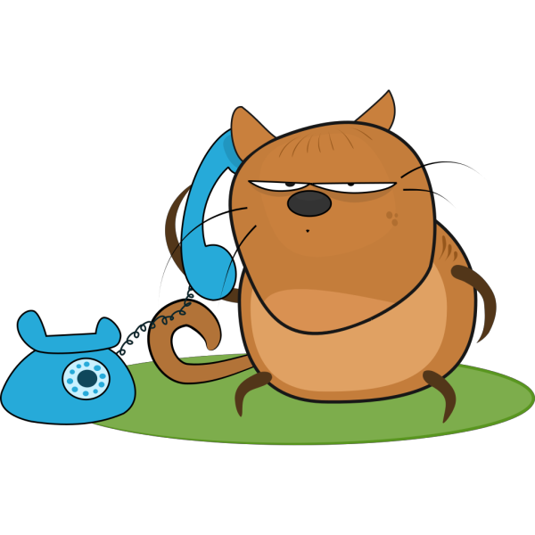 Cat With Telephone PNG Clip art