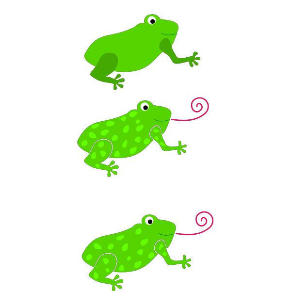 Three Different Frogs PNG Clip art