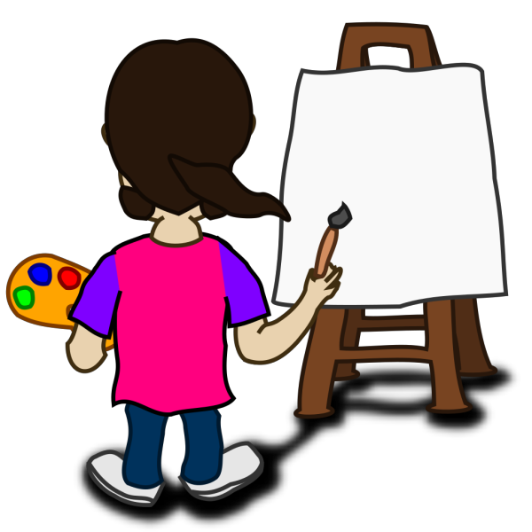 Cartoon Character Painting Blank Slate PNG Clip art
