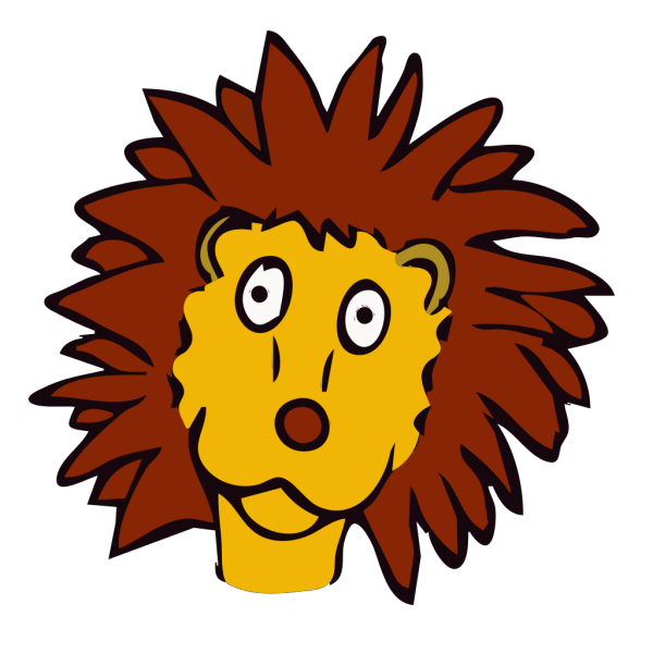 Cartoon Lion Face PNG Clip art