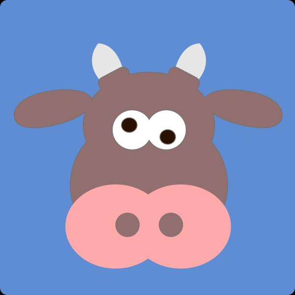 Crazy Cartoon Cow PNG Clip art