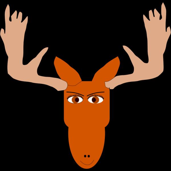 Smiling Moose PNG Clip art