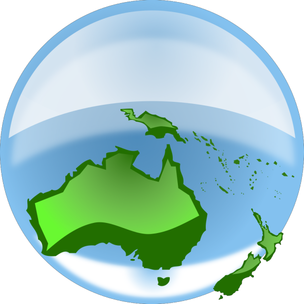 Australia On Globe PNG Clip art