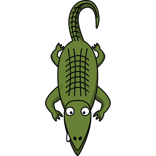 Simple Cartoon Alligator PNG Clip art