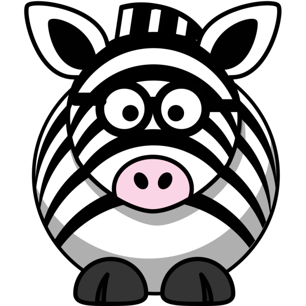 Simple Cartoon Zebra PNG Clip art