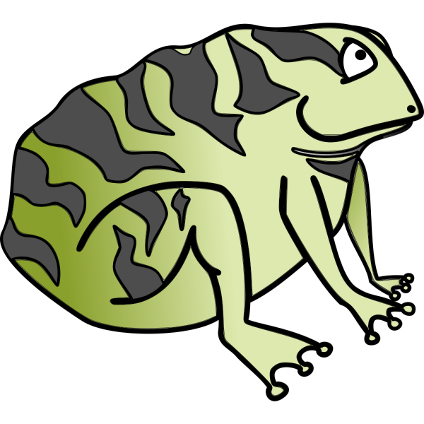 Sitting Toad PNG Clip art