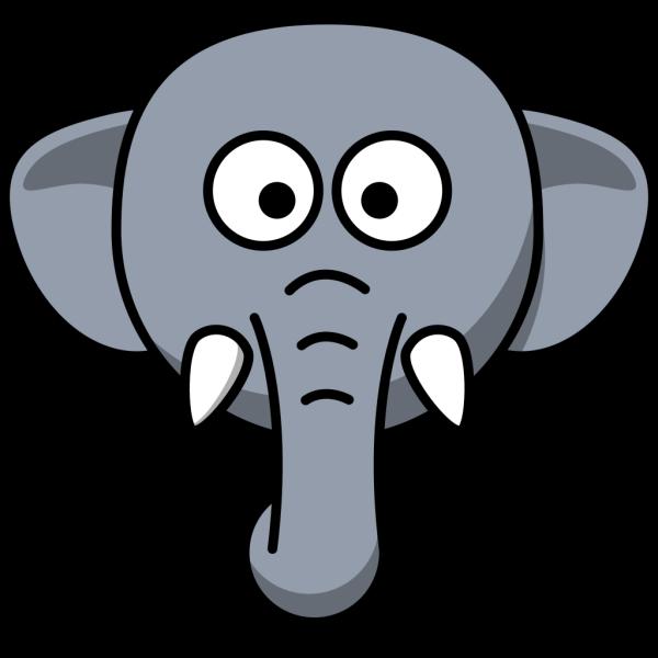 Elephant Head PNG Clip art