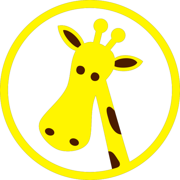 Cartoon Giraffe Head PNG Clip art