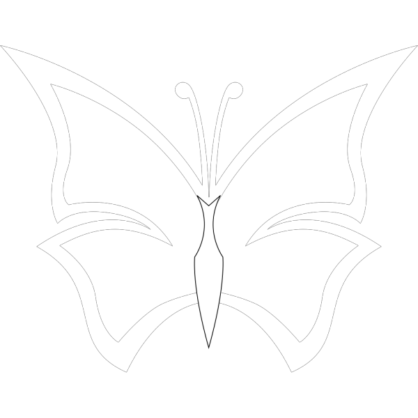 Black And White Butterfly PNG Clip art