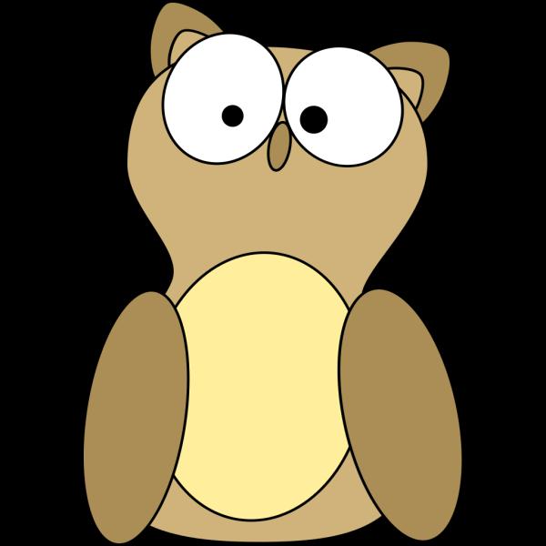 Crazy Cartoon Owl PNG Clip art