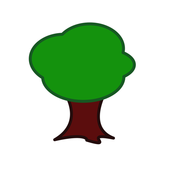 Large Trunk Tree PNG Clip art