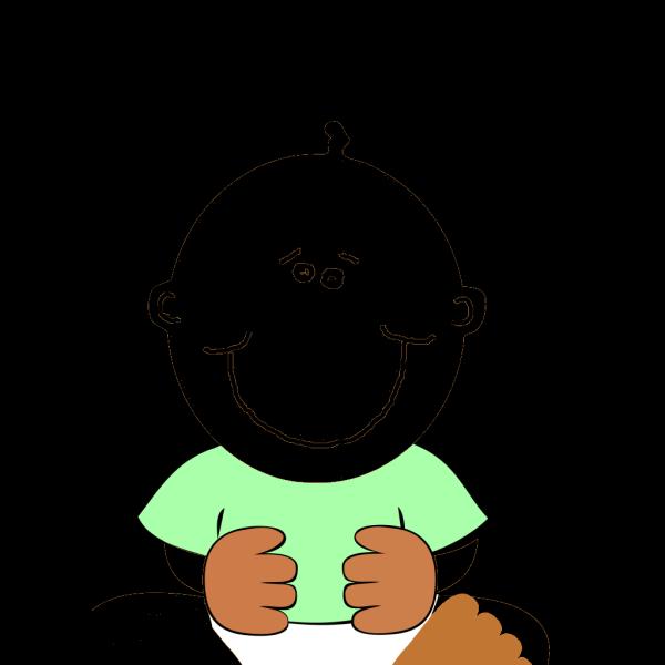 Black Baby PNG Clip art