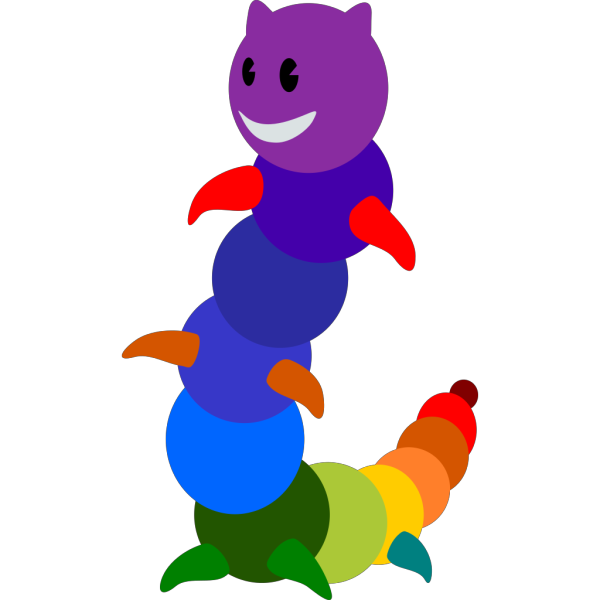 Rainbow Caterpillar Cartoon PNG Clip art