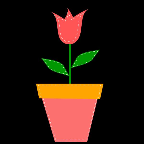 Tulip In Flower Pot PNG Clip art