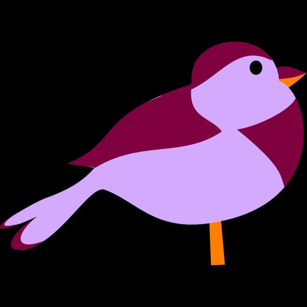 Little Purple Bird PNG Clip art