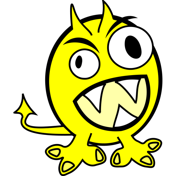 Yellow Monster PNG Clip art