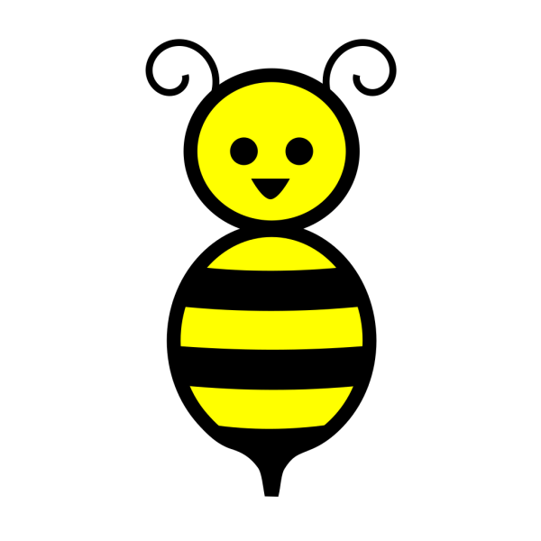 Cute Honey Bee Cartoon PNG Clip art