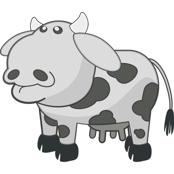 Gray Cow PNG Clip art