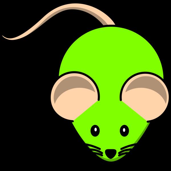 Cute Green Mouse Cartoon  PNG Clip art