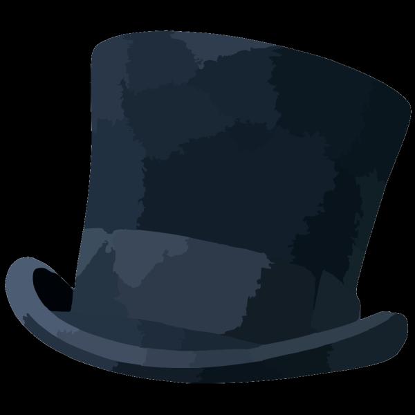 Black Top Hat PNG Clip art